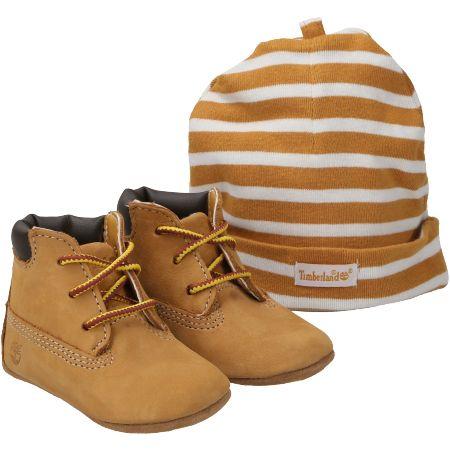 Timberland Crib Bootie with Hat - Hellbraun - pair
