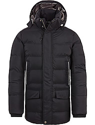 Timberland Men's clothes AMVE GOOSE EYE PARKA BLACK