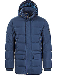 Timberland Men's clothes AMVETB GOOSE EYE PARKA DRESS BLUES