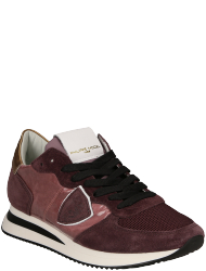 Philippe Model Women's shoes TZLD EX02  TRPX L D VELOUR VERRE ROUGE VIN
