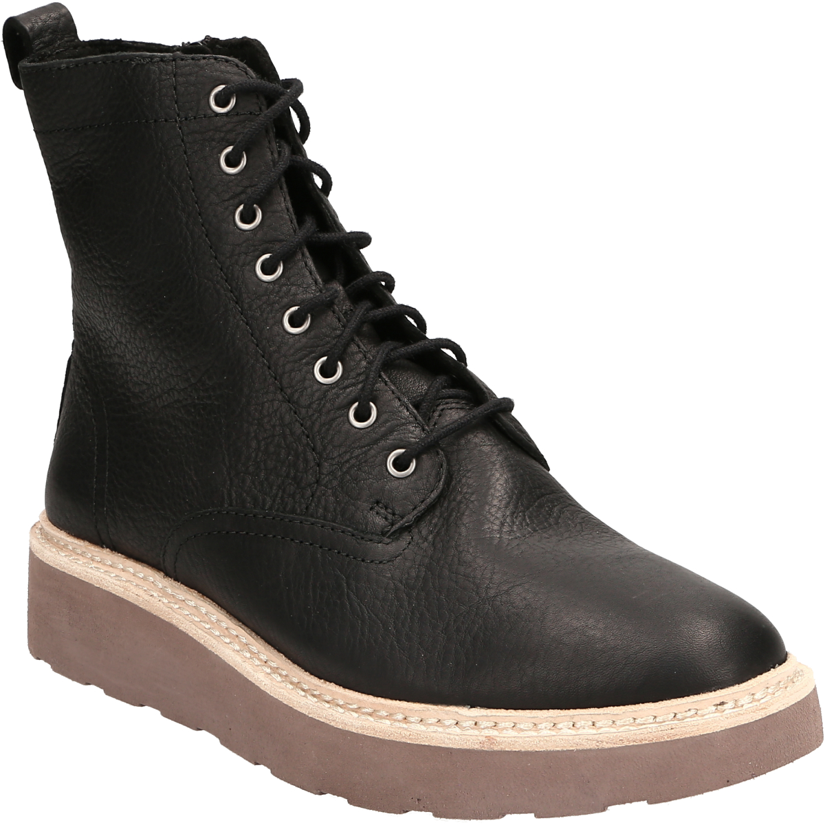 ladies black/&brown clarks leather boots size 7uk//40euro