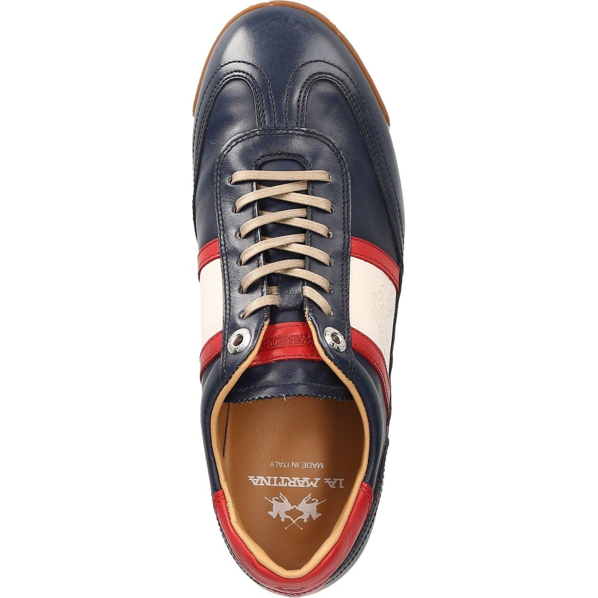 La Martina L7071 182 Butterno Blue Men S Shoes Lace Ups