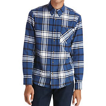 Timberland LS Heavy Flannel check - Blau, kombiniert - sideview
