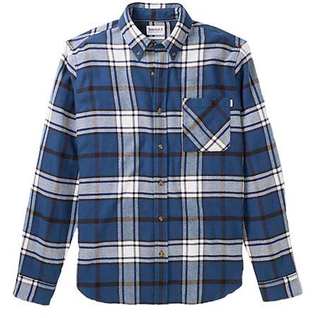 Timberland LS Heavy Flannel check - Blau, kombiniert - mainview
