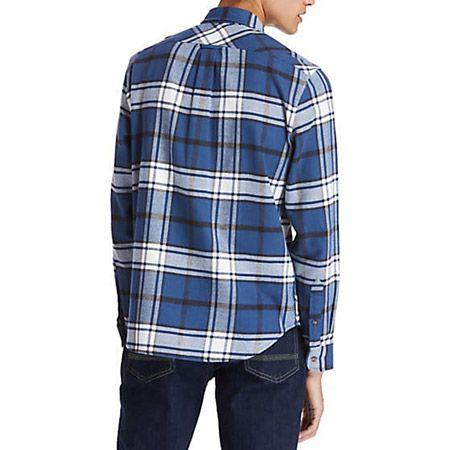 Timberland LS Heavy Flannel check - Blau, kombiniert - bottomview
