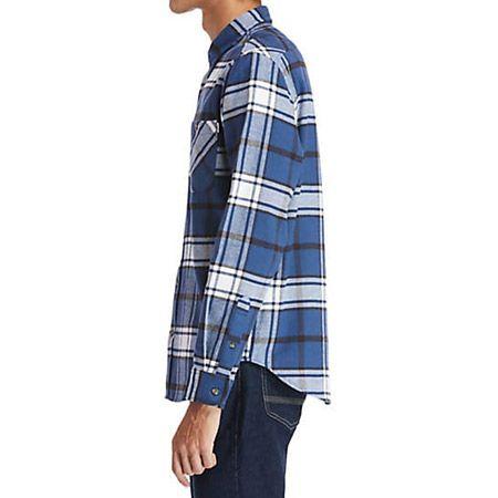 Timberland LS Heavy Flannel check - Blau, kombiniert - upperview