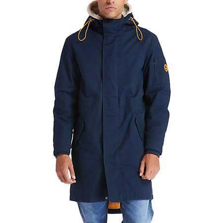 Timberland Parka w Faux S lin - Blau - sideview