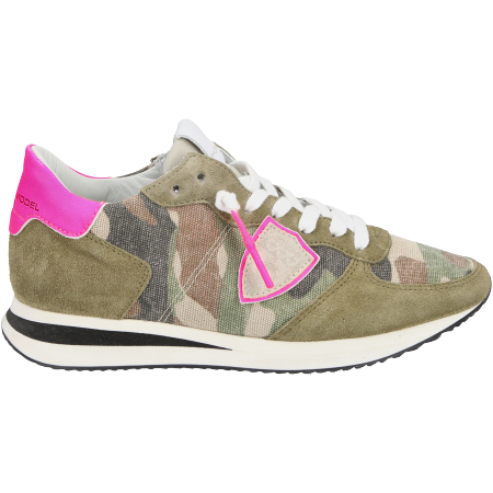 Philippe Model TRPX Camouflage Neon - Grün - sideview