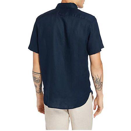 Timberland A2DCC433 SS Linen Shirt - Blau - bottomview