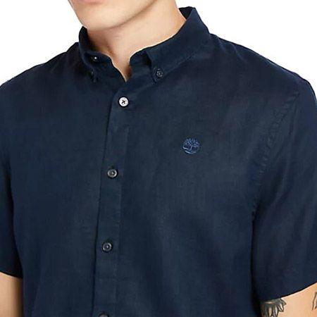 Timberland A2DCC433 SS Linen Shirt - Blau - upperview