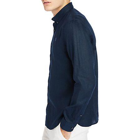 Timberland LS Linen Shirt - Blau - sideview