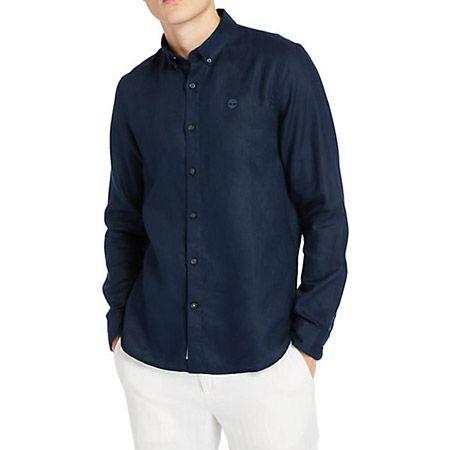 Timberland LS Linen Shirt - Blau - mainview