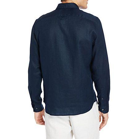 Timberland LS Linen Shirt - Blau - bottomview