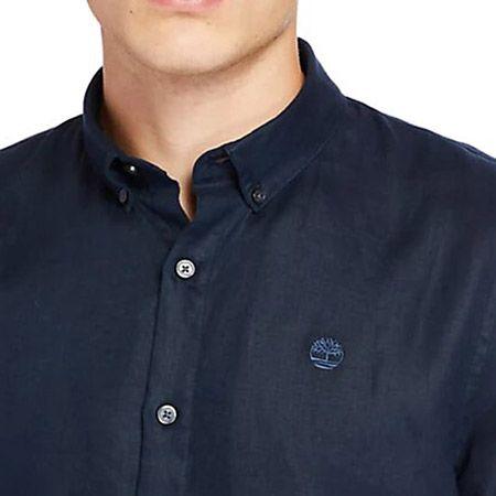 Timberland LS Linen Shirt - Blau - upperview