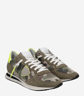 Philippe Model Men's shoes TRPX Camouflage Neon