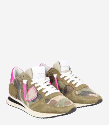 Philippe Model Women's shoes TRPX Camouflage Neon