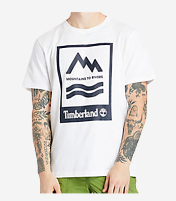 Timberland Men's clothes A2FNH100 Prnt Badge Tee