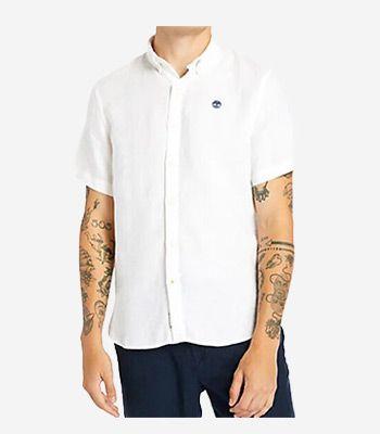 Timberland Men's clothes SS Linen Shirt
