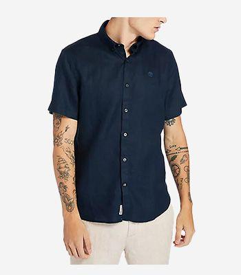 Timberland Men's clothes A2DCC433 SS Linen Shirt