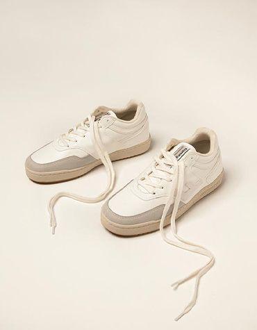 Flamingos' Life Women's shoes RETRO 90's ALL WHITE BICOLOR