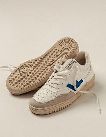 Flamingos' Life Men's shoes RETRO 90's WHITE BLUE MONOCOLOR