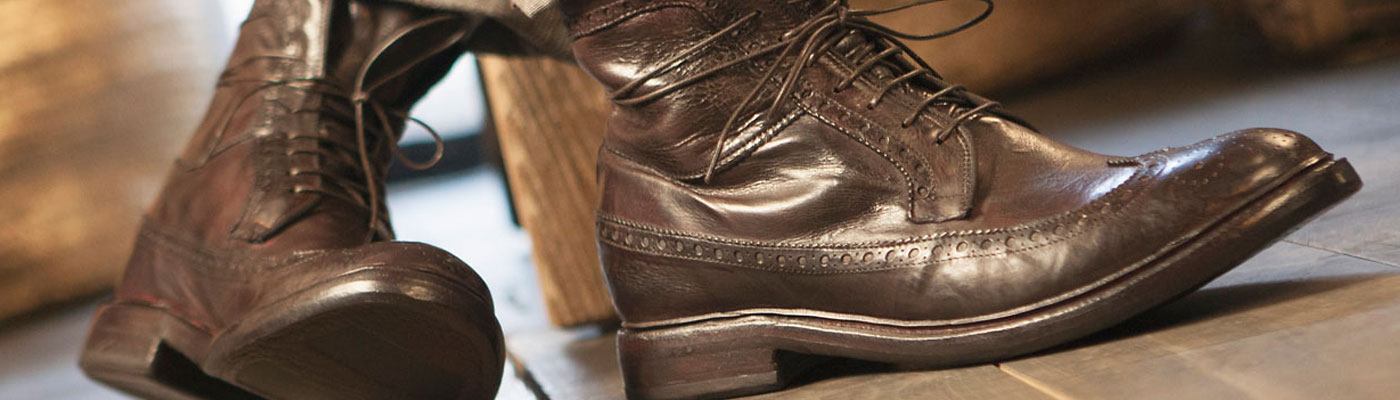 BIKKEMBERGS Herren Men Schuhe Shoes Stiefel Boots Leder Used Look 39,40,42,44